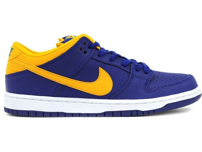 Nike DUNK LOW PRO SB Deep Royal bluee Midas gold Pine (D) (253) Men's shoes