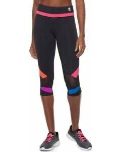 bb02b8cd93f5 NEW Fila Sport Womens Capri Crop Leggings Pants Athletic Sport XS 2 ...