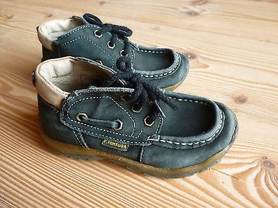 P. TORTUGA echt LEDER SCHUHE ergonomisch Gr 25 blau Halbschuhe Boots Übergang