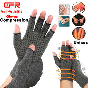 Arthritis-Gloves-Fingerless-Medical-Support-Carpal-Tunnel-Copper-Compression-Fit