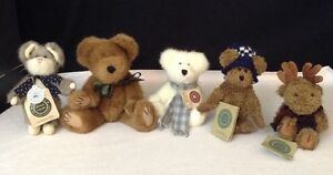 Lot of 5 Boyds Bears Tags Munster fondue Boris Berriman Moose Shivers Snowbeary