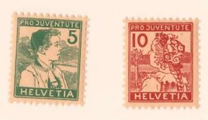 SUISSE-SWISS-N-149-150-NEWS-year-1915-CV-250