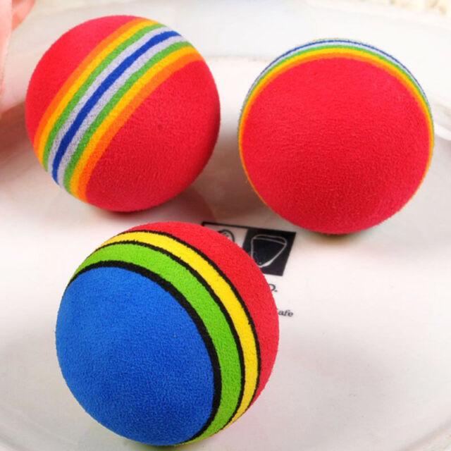 2x Pet Bird Cat Dog Ball Toys Pet toys Cute Lovely Rainbow Ball Funny For Pet AU