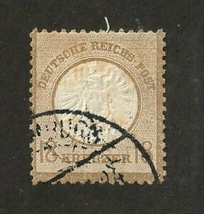 Germany-stamp-26-used-large-shield-1872-sound-no-thins-or-tears-SCV-2100