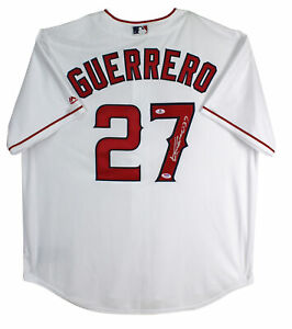 Angels-Vladimir-Guerrero-Authentic-Signed-White-Majestic-Jersey-Autographed-BAS