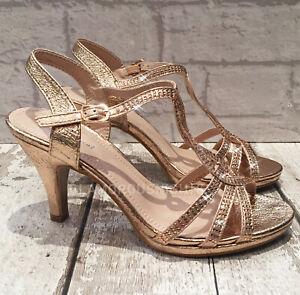 Ladies Champagne Rose Gold Medium Heel