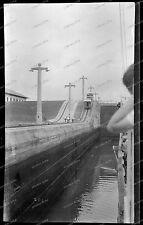 Vintage-Negativ-Panama-Kanal-Canal-Passagier-Dampfer-Schiff-Ship-Bahn-1920s-1