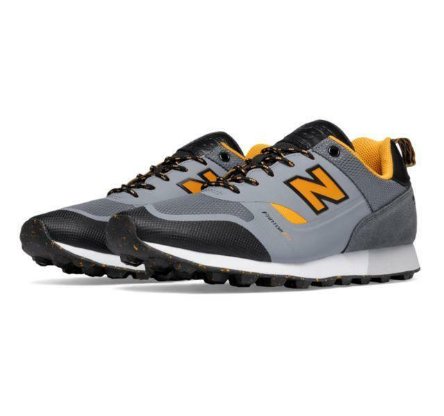 Mens New Balance Trail Buster Re-Engineered Light Grey Black White TBTFAAC