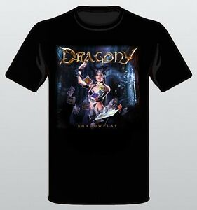 DRAGONY-Shadowplay-T-Shirt-size-M-sticker-signed-photo-NEW