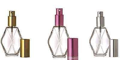 1 Refillable Perfume Pump Spray Empty Glass Atomizer 2 OZ 60 ML Diamond Bottle