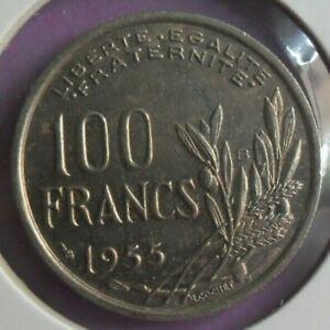 100-Francs-Cochet-1955-B-TTB-piece-de-monnaie-Francaise-N16