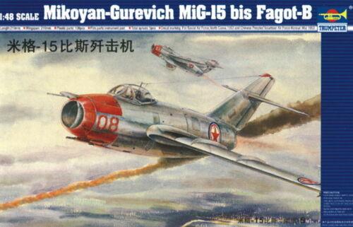 Neu Trumpeter 02806-1:48 MiG-15 bis Fagot