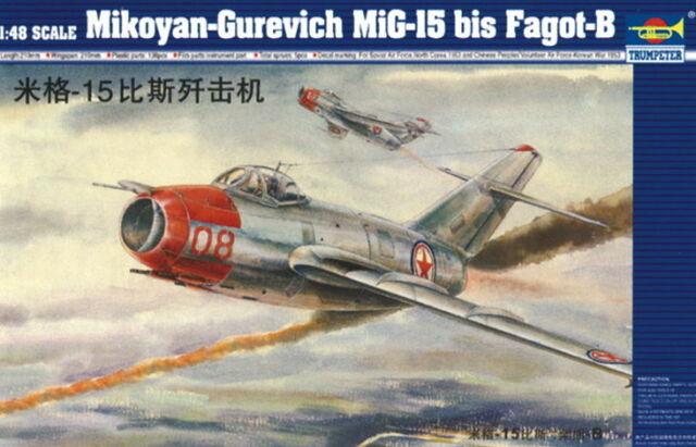 MiG-15 bis Fagot-B Triebwerk Nozzle China Soviet 1:48 Modell-Bausatz Trumpeter
