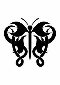 Celtic-Knot-Butterfly-Stencil-350-micron-Mylar-not-thin-stuff-TaT0119