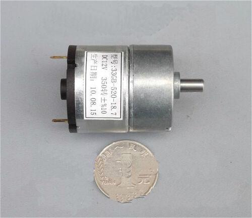 33GB-520 DC Gear Motor Gear Motor Gearbox DC12V 100mA Load Current
