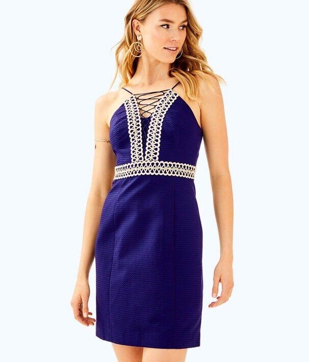 NWT New Lilly Pulitzer Trista Shift Dress True Navy Size 6