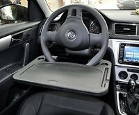 Laptop Car Mount Mobile Computer Workstation Desk For Steering Wheel Table Light