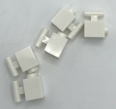 Lego NEW white 1 x 2 modified bricks with swivel--top /& bottom   2 sets
