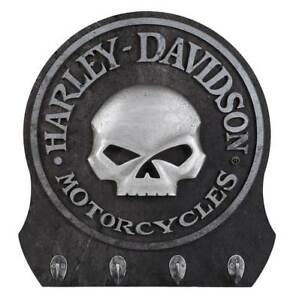 Harley-Davidso<wbr/>n Sculpted 3D Willie G Skull Key Rack, Textured Finish HDL-15313