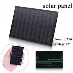 110 * 69mm DIY 5V 1.25W Solar Panel Module Cell Battery Charger Mini Toy Charge