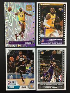 Lebron James Lot 4 Sticker NBA Panini 2019 2020 (19-20) #302 Foil... / European