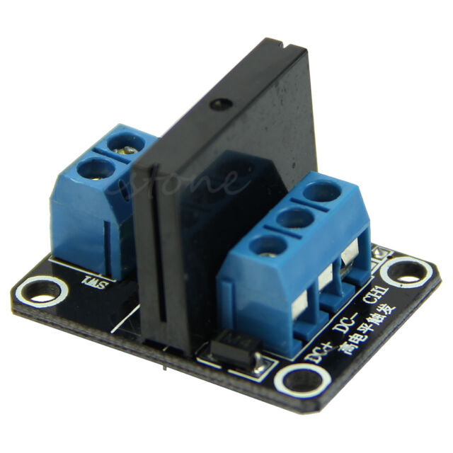 DC 5//12V 1-Channel High Level Trigger Solid State Relay Module 250VAC 2A Output with Fuse,12g 5V