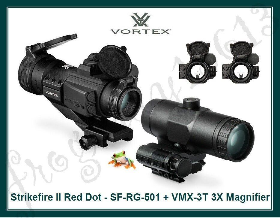 VORTEX Strikefire II Red Dot - SF-RG-501 & 3X Magnifier - VMX-3T - Auth Dealer