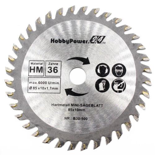 1x Mini Handkreissäge HM bois lame de scie 85x10mm pour Powerplus//Germanie NEUF