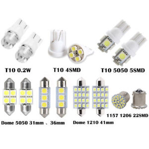 14Pcs-White-LED-Interior-Package-Kit-T10-31-36mm-Map-Dome-License-Plate-Lights