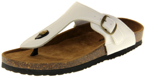 Womens Ladies Dunlop Faux Leather Casual Beach Summer Sandals 3 4 5 6 7 8