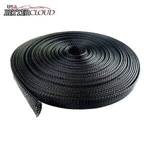 "100 Feet 3//4/"" Expandable Wire Rope Sleeving Sheathing Braided Loom Tube"