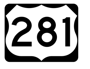 US Route 281 Sticker R2171 Highway Sign Road Sign