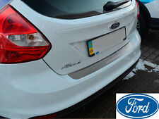FORD FOCUS III 5D 2010- Rear Bumper Protector Stainless Steel Scuff Sill Plate
