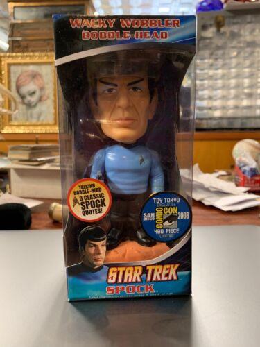 2008 Funko Star Trek Spock Talking Wacky Baladeuse Bobble Head Comic avec variante