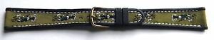 18mm-FLEURUS-FISHING-MOTIF-ON-BROWN-CALF-LEATHER-WATCH-BAND-STRAP-SHORT