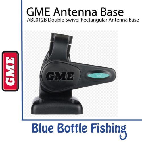 GME ABL012B Double swivel rectangular antenna base BLACK