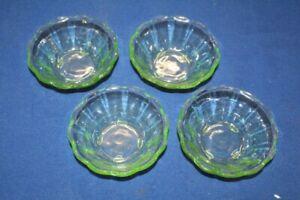 4-Kompottschuesseln-Schuessel-Schale-Uran-Glas-13-x-5-cm