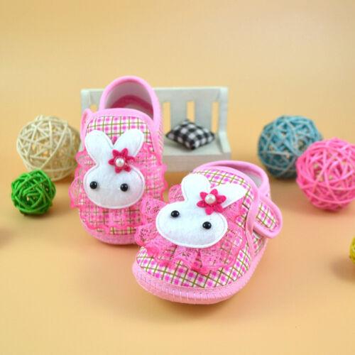 Toddler Baby Shoes Newborn Girls Soft Soled Princess Crib Shoes Prewalker 0-10M