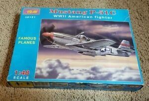 ICM-1-48-Mustang-P-51C-American-Fighter-WWII-plastic-model-kit-Complete