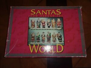 VINTAGE-SET-OF-12-Santa-figurines-From-Around-the-World-GENUINE-PORCELAIN-52160