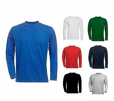Mens Classic Long Sleeve T Shirts Size S to 4XL - SPORTS CASUAL WORK By MIG 314