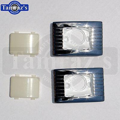 64-72 ABody Rear Quarter Trim Courtesy Floor Light Lamp Housing Bezel & Lens SET