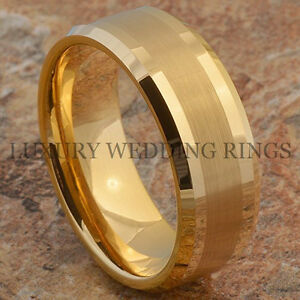 Black Tungsten Ring Solid Mens Wedding Band Anniversary Bridal Jewelry Size 6-13