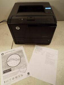 Details about Hp Laserjet Pro 400 M401dne printer w/install cd/installed  toner/power&usb cords