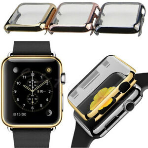 a67eabf0af1270 For iWatch Apple Watch 38mm /42mm Case Slim Electroplate Metal ...