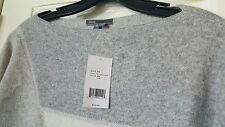 Vince NWT $345 abstract jacquard boatneck wool cashmere blend sweater top XS