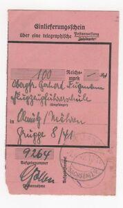 2-230-EINLIEFERUNGSSCHEIN-FLUGZEUGFUHRERSCHULE-HEIDENAU-MAHREN-FLUGZEUG-1942