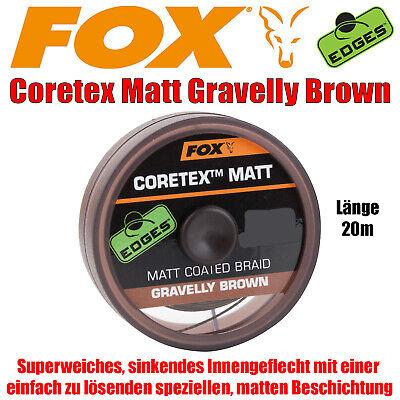 Fox Coretex Vorfachschnur zum Karpfenangeln  20m Spule versch Sorten Posten!