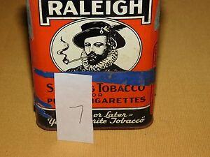 VINTAGE SIR WALTER RALEIGH PIPE & CIGARETTES SMOKING TOBACCO TIN *EMPTY*******