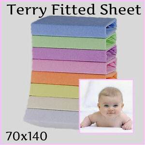 drap housse 140x70 Terry Towelling Fitted Sheet 140x70(27x55in) Baby Cot Toddler Bed  drap housse 140x70